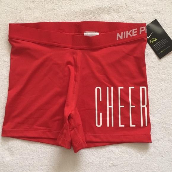 dab35545998 NWT Nike 3'' Pro Red Cheer Cheerleading Shorts NWT